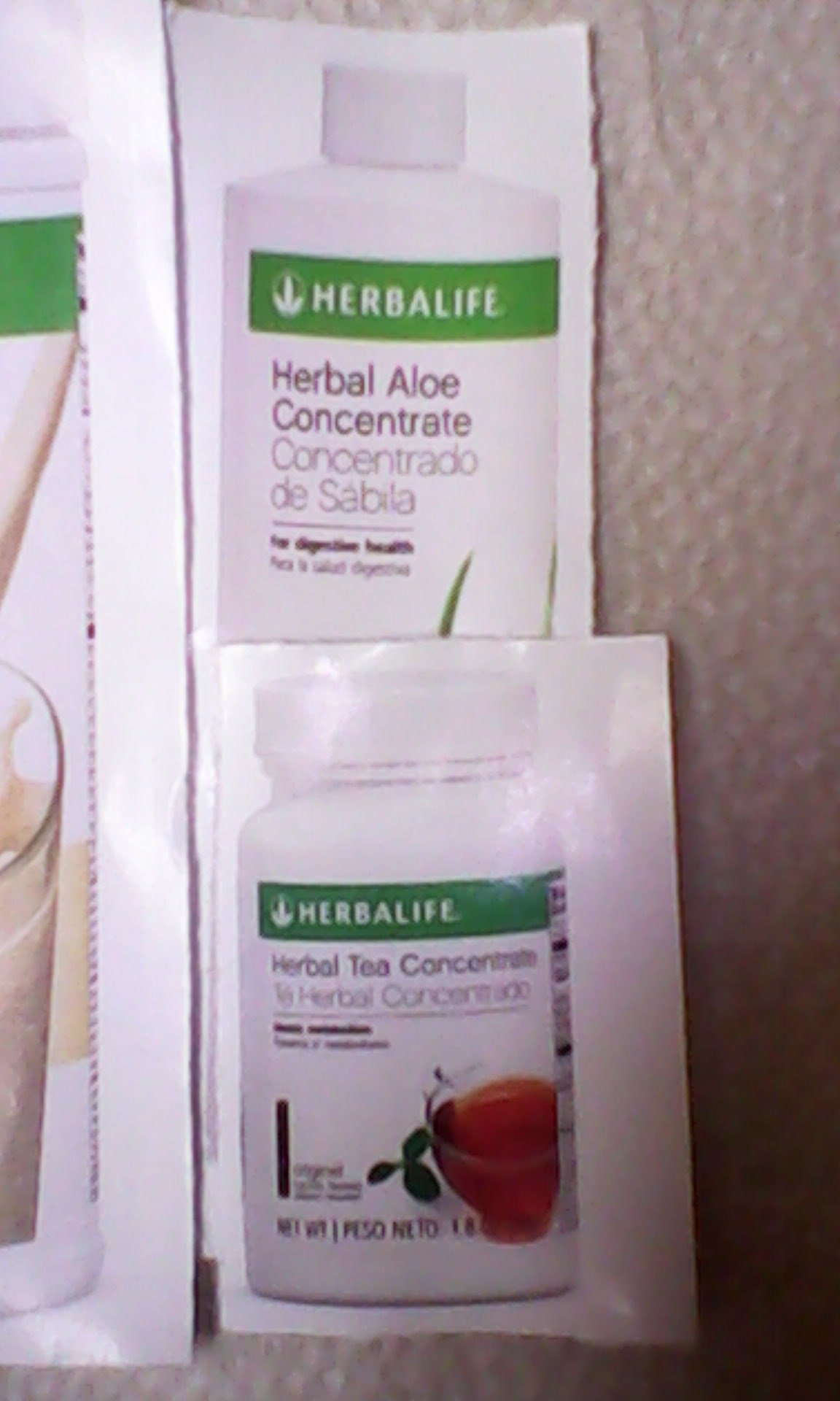 HERBALIFE QUICK COMBO - FORMULA 1 SHAKE MIX (Vanilla), PERSONALIZED PROTEIN, HERBAL ALOE (Mango), HERBAL TEA CONCENTRATE (Raspberry) by Herbalife (Image #1)