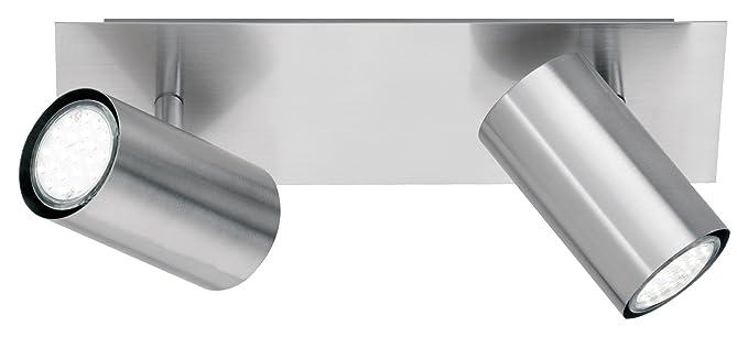 metal E 15 x 12 x 12 cm 230 V A++ Foco con 1 luz n/íquel mate bombilla excluida 1,35 W IP20 Trio GU10