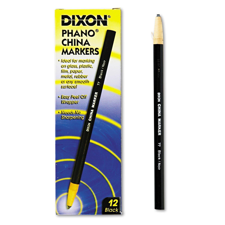 Dixon 00077 China Marker, Black, Dozen by Dixon (Image #1)