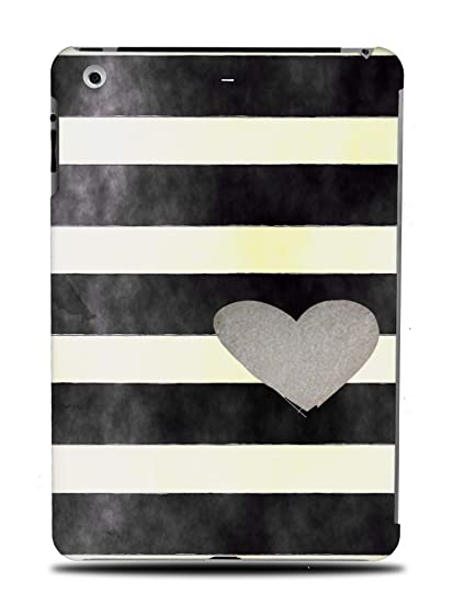 6a2ee2a333 Amazon.com: Stripes Grey Heart Pattern Hard Back Case Cover for ...