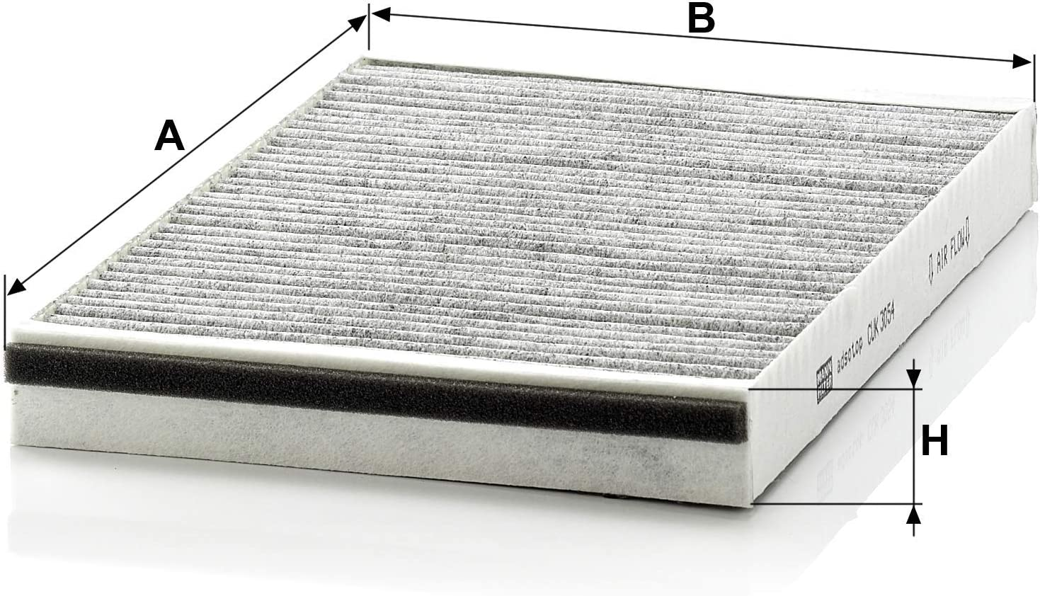 Original filtro MANN aire filtro polen filtro de cabina con carbón activado CUK 2442 Opel