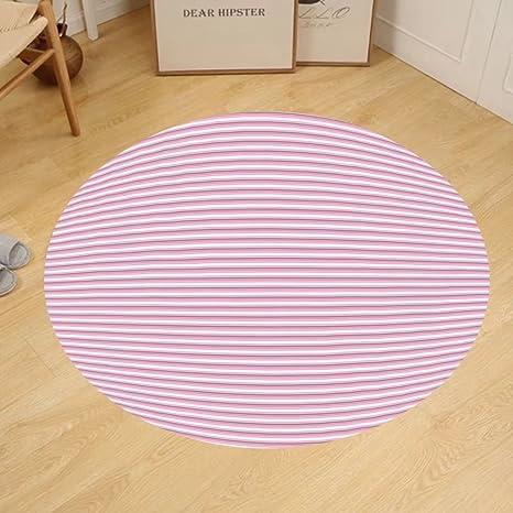 Amazon.com: Gzhihine Custom round floor mat Geometric Striped ...