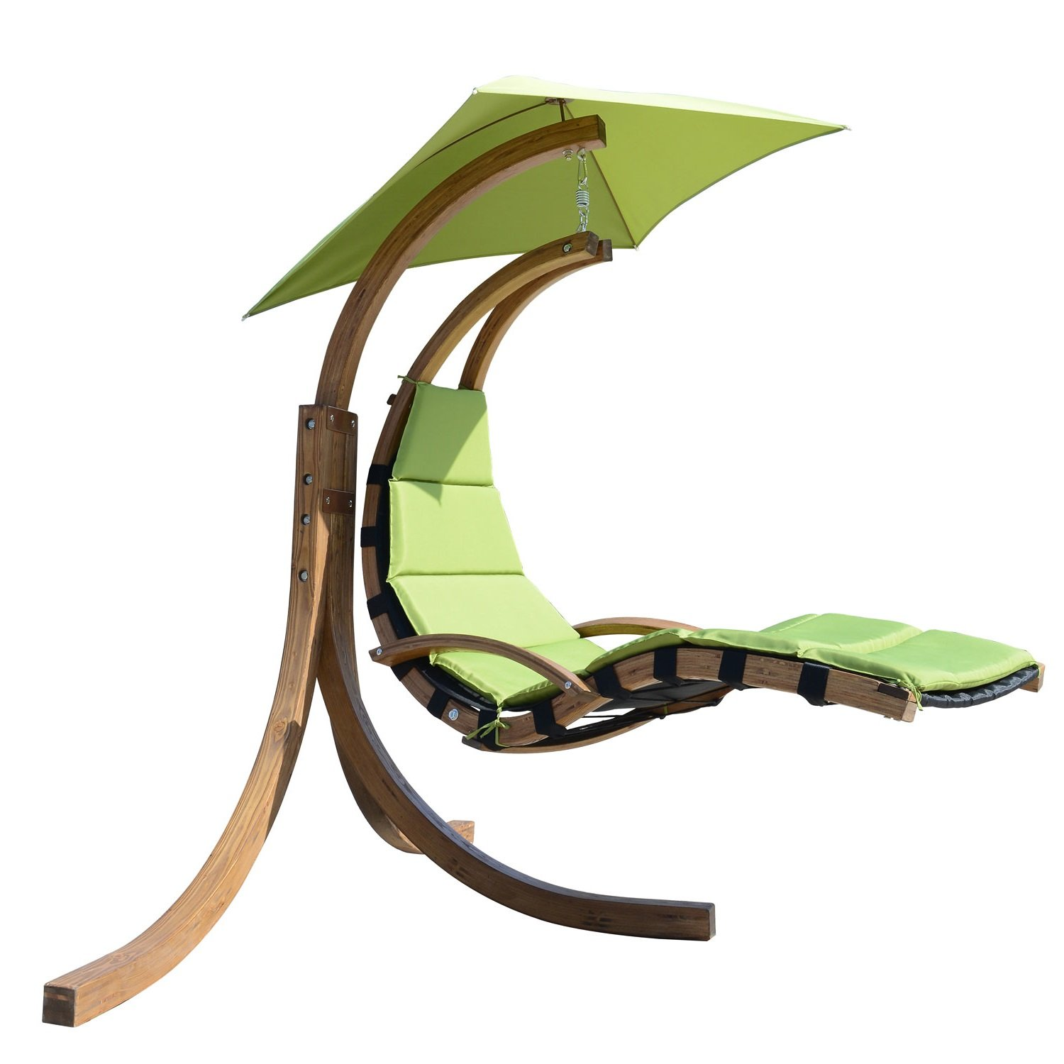 Amazon.com : Outsunny Outdoor Hanging Sky Swing Chair With Stand, Green :  Garden U0026 Outdoor