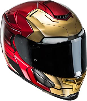 Casco Hjc Rpha 70 Iron Man Home coming Marvel Casco Integral con parasol y antivaho Disco