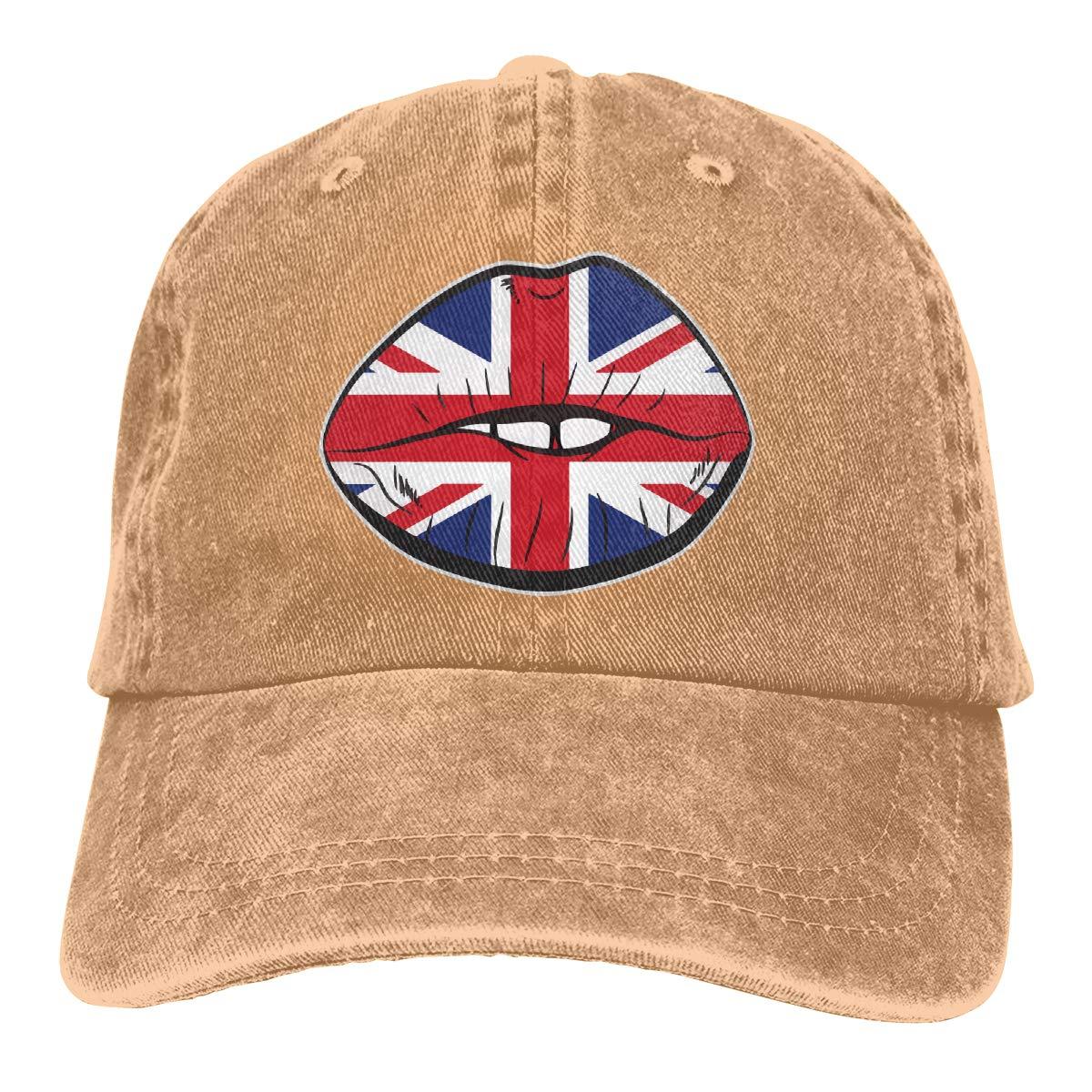 Q64 British Flag Fan Unisex Trendy Cowboy Hip Hop Cap Adjustable Baseball Cap