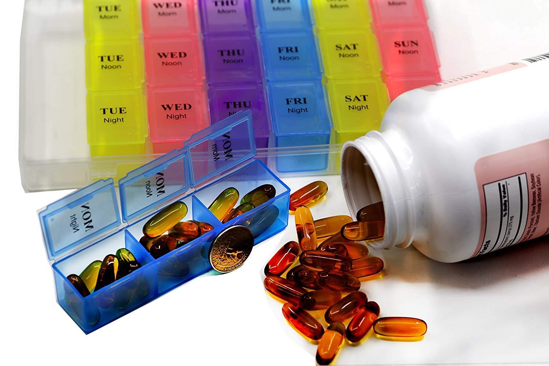 Amazon.com: Organizador de pastillas para 7 días, caja ...