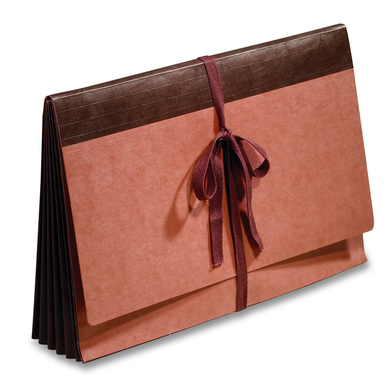 Fibre-Guard Expanding Wallet, File Envelope, Portfolio, Legal Size with 5 1/4'' Fully Reinforced Tyvek Gusset, Cloth Tie Closure, 25 per Carton