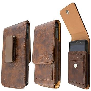 caseroxx Handy-Tasche Outdoor Tasche für Blackview BV5000 aus Echtleder, Handyhülle für Gürtel in braun