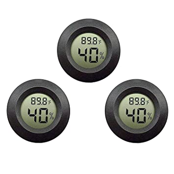JEDEW 4-Pack Mini Hygrometer Thermometer Digital LCD Monitor Indoor Outdoor for