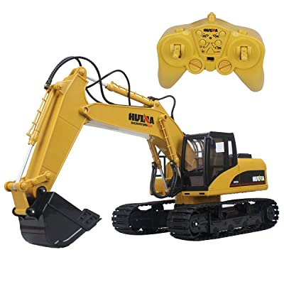 Big Daddy Super Powerful Full Functional DIE-CAST 15 Channel Professional Remote Control Excavator Tractor Toy with Lights & Sound: Home & Kitchen