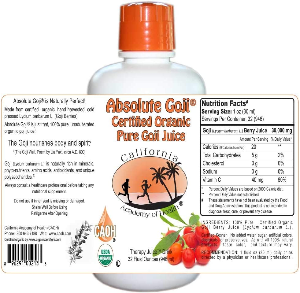 Amazon Com Absolute Goji Pure Organic Goji Juice From Caoh 1