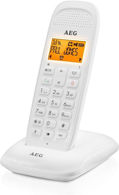 AEG Voxtel D81 - Teléfono inalámbrico DECT con Altavoz, Blanco: Aeg-Telecomunicacoes-Sa: Amazon.es: Electrónica