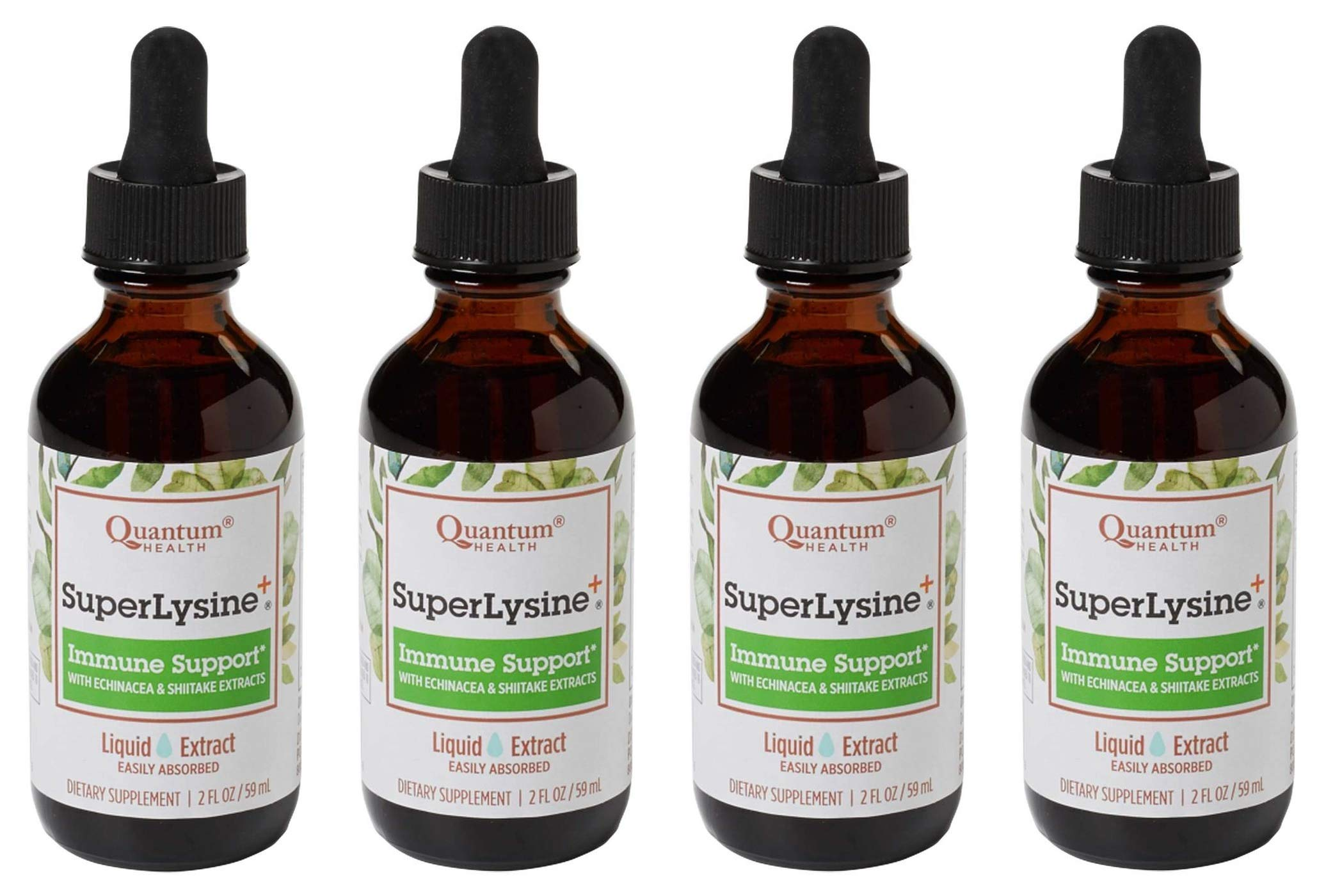 Quantum Super Lysine Plus Liquid Extract - 2 fl oz (Pack of 4) by Quantum (Image #1)