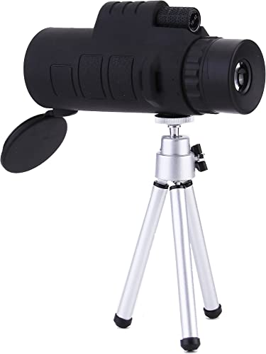 LU2000 10X42 Scope with Tripod Kickstand, High Power Wide View Mono with Lens Lid Spotting Monocular for Birds Watching Fishing Hunting Camping Travelling
