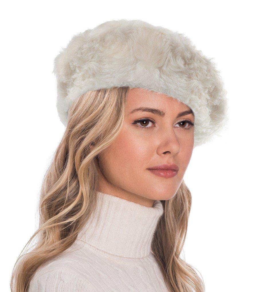 Eric Javits Luxury Fashion Designer Women's Headwear Hat - Persian Beret (Off White)