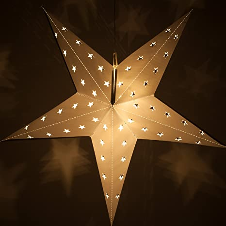 fold flat 5 point star light led star christmas decoration party decorations - Christmas Star Decorations