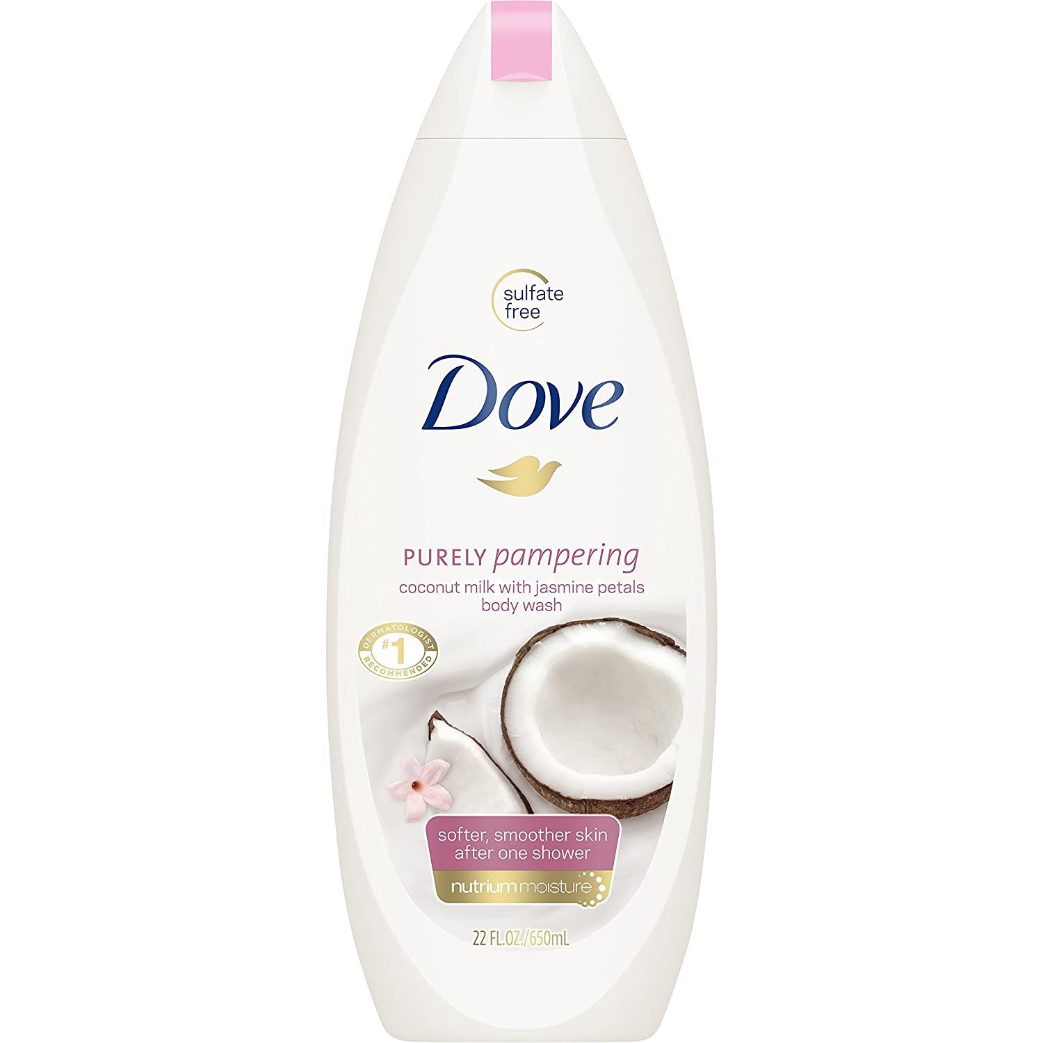 Dove Purely Pampering Body Wash, Coconut Milk with Jasmine Petals 22 oz