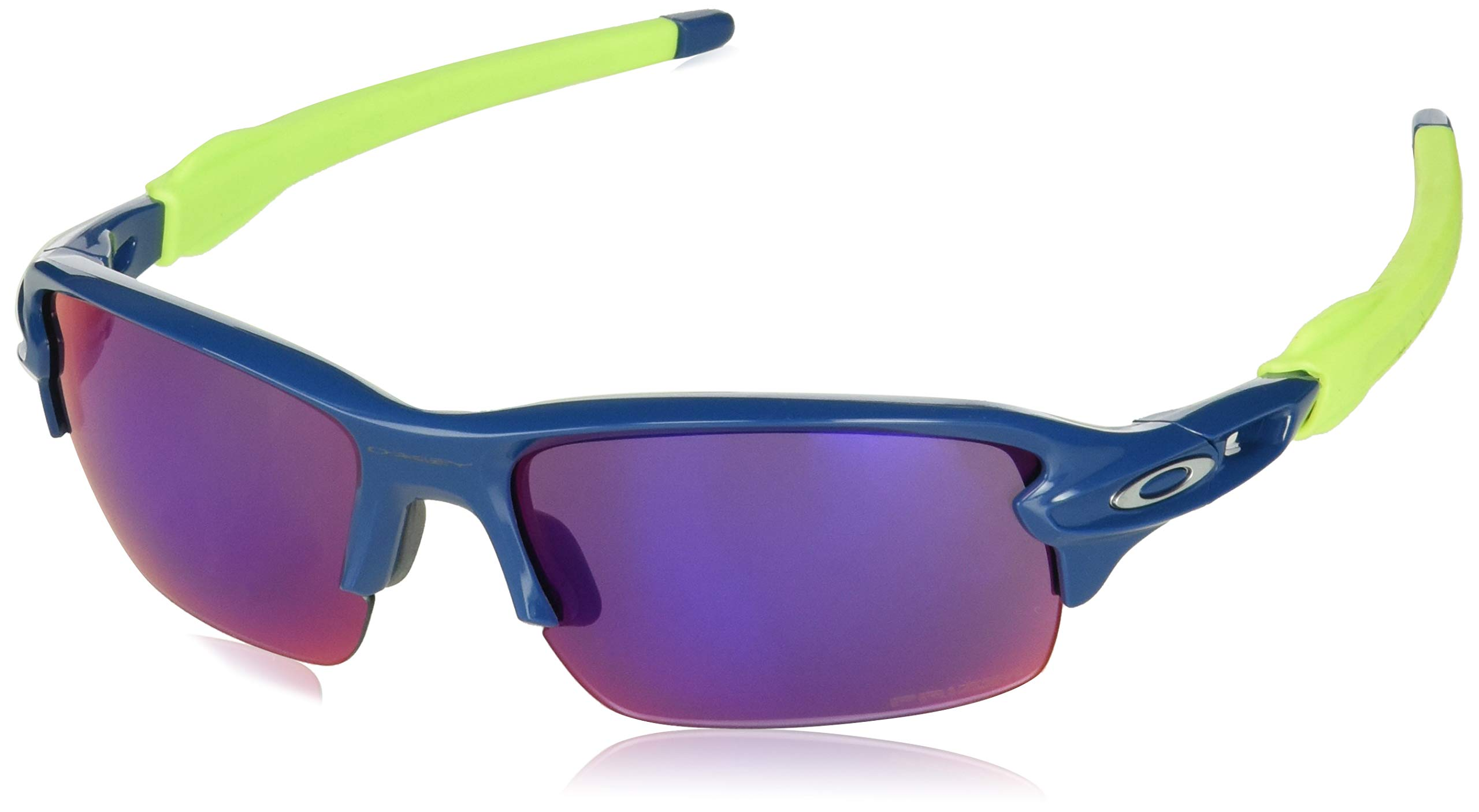 Oakley Youth Boys OJ9005 Flak XS Rectangular Sunglasses, Blue/Prizm Road, 59 mm