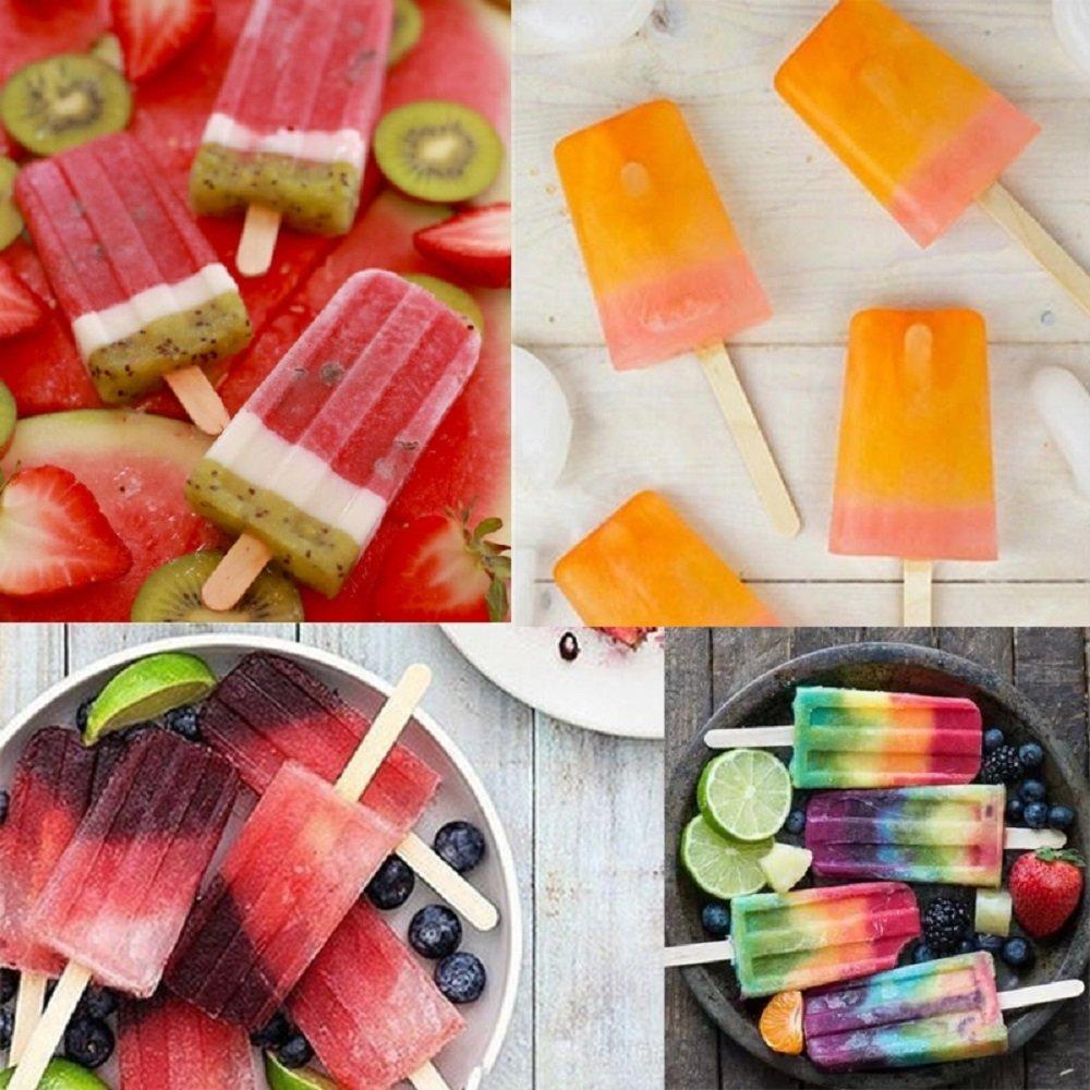 200 Pcs Craft Sticks Ice Cream Sticks Natural Wood Popsicle Craft Sticks 4 1 2 Length Treat Sticks Ice Pop Sticks for DIY Crafts