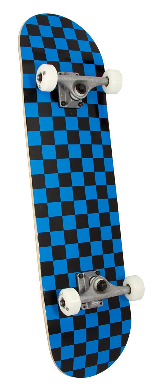 Awaken Complete with Blue Checker Design Skateboard 8-Inch