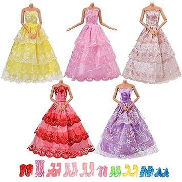 Asiv Vestiti e Scarpe per Bambola Barbie b04a4bd4c6f