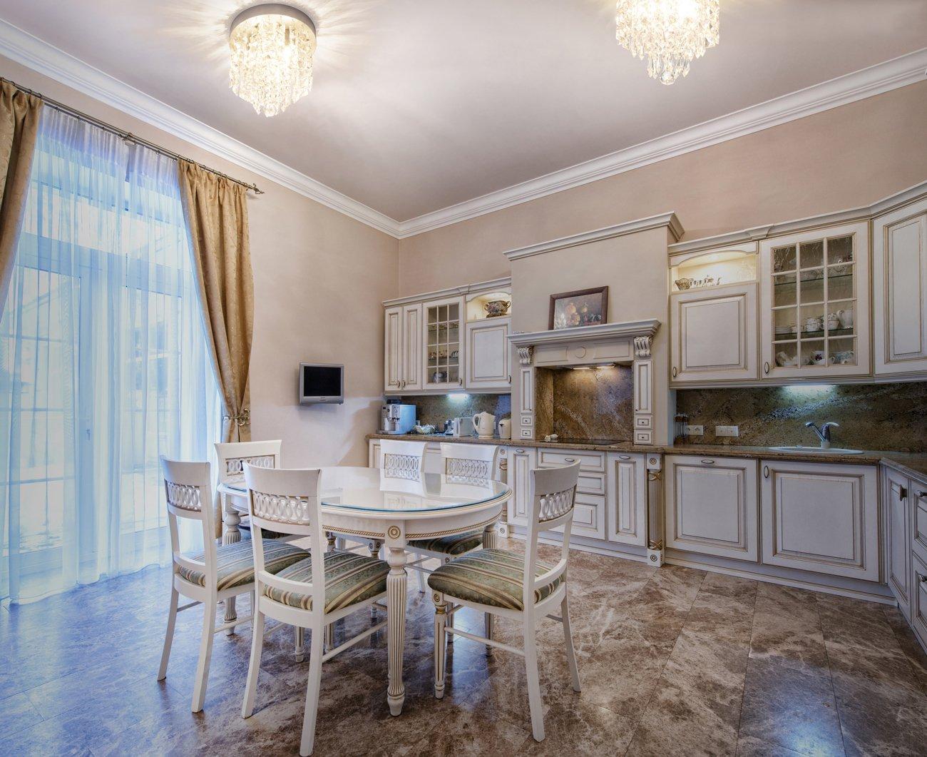 SHINE HAI Crystal Chandelier, 3-light Modern Flush Mount Ceiling Pendant Light H9.45'' X W8.66'' for Bedroom, Living Room, Dining Room, Kitchen, Hallway by SHINE HAI (Image #5)