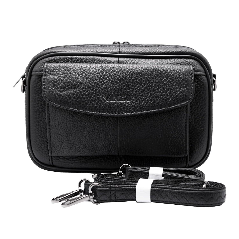 Amazon.com: Mens Handbag Cowhide Leather Messenger Bag Organizer ...