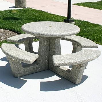Round Concrete Picnic Table