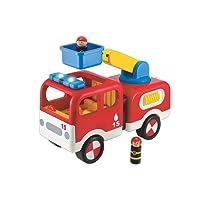 Room Studio - 142434 - Camion de Pompier Sonore et Lumineux - Rouge