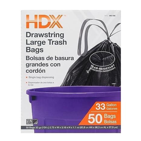 50 Gal. Bolsas de basura transparentes extra grandes (50 ...