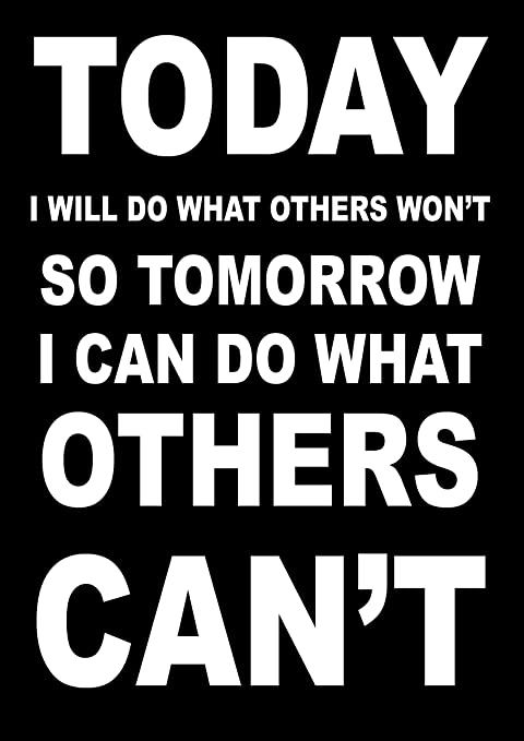 Inspirational Motivational Quote Sign Poster Print Picturetoday I