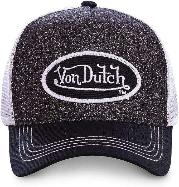Von Dutch - Gorra de béisbol para hombre, color negro y blanco ...