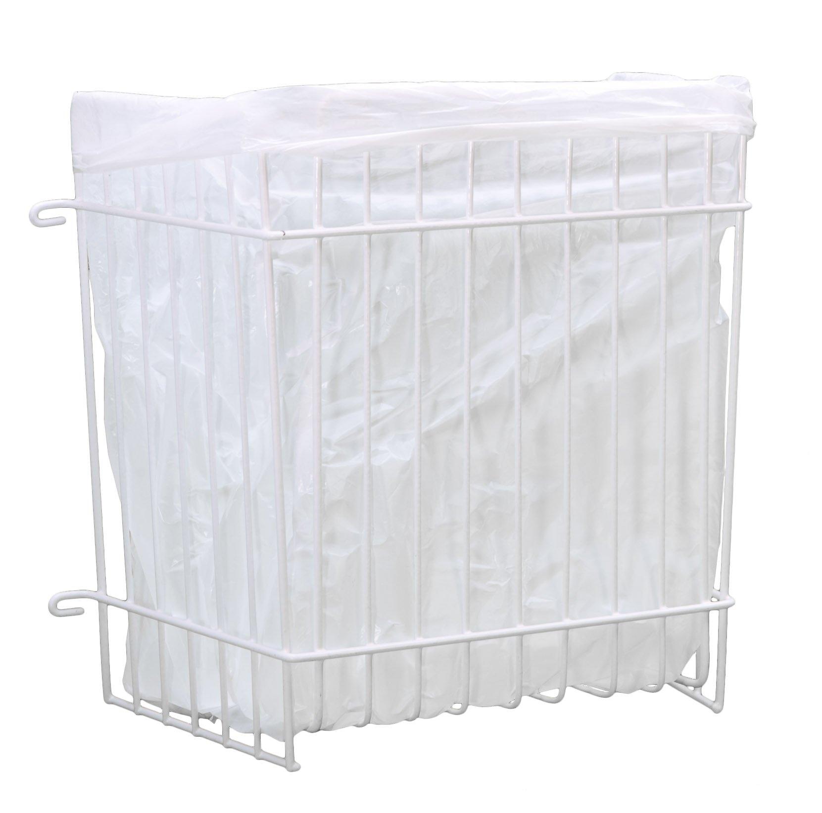 Panacea Grayline 40226 Garbage Bag Holder, Medium, White