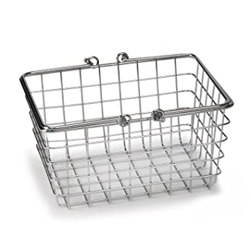 High Quality Spectrum Diversified Wire Storage Basket, Small, Chrome