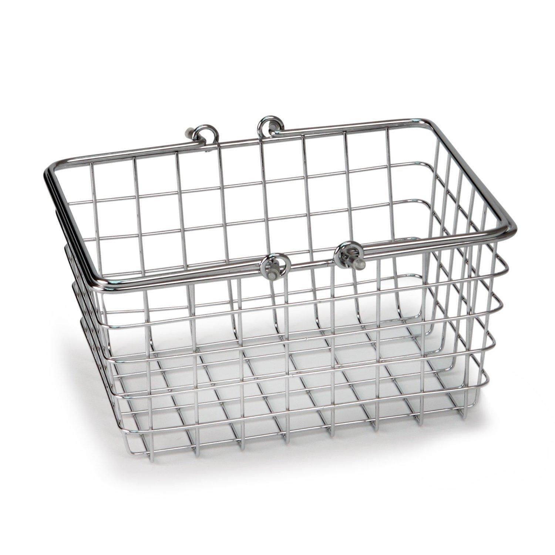 Spectrum Diversified Wire Storage Basket Small Chrome 10591430704 | eBay