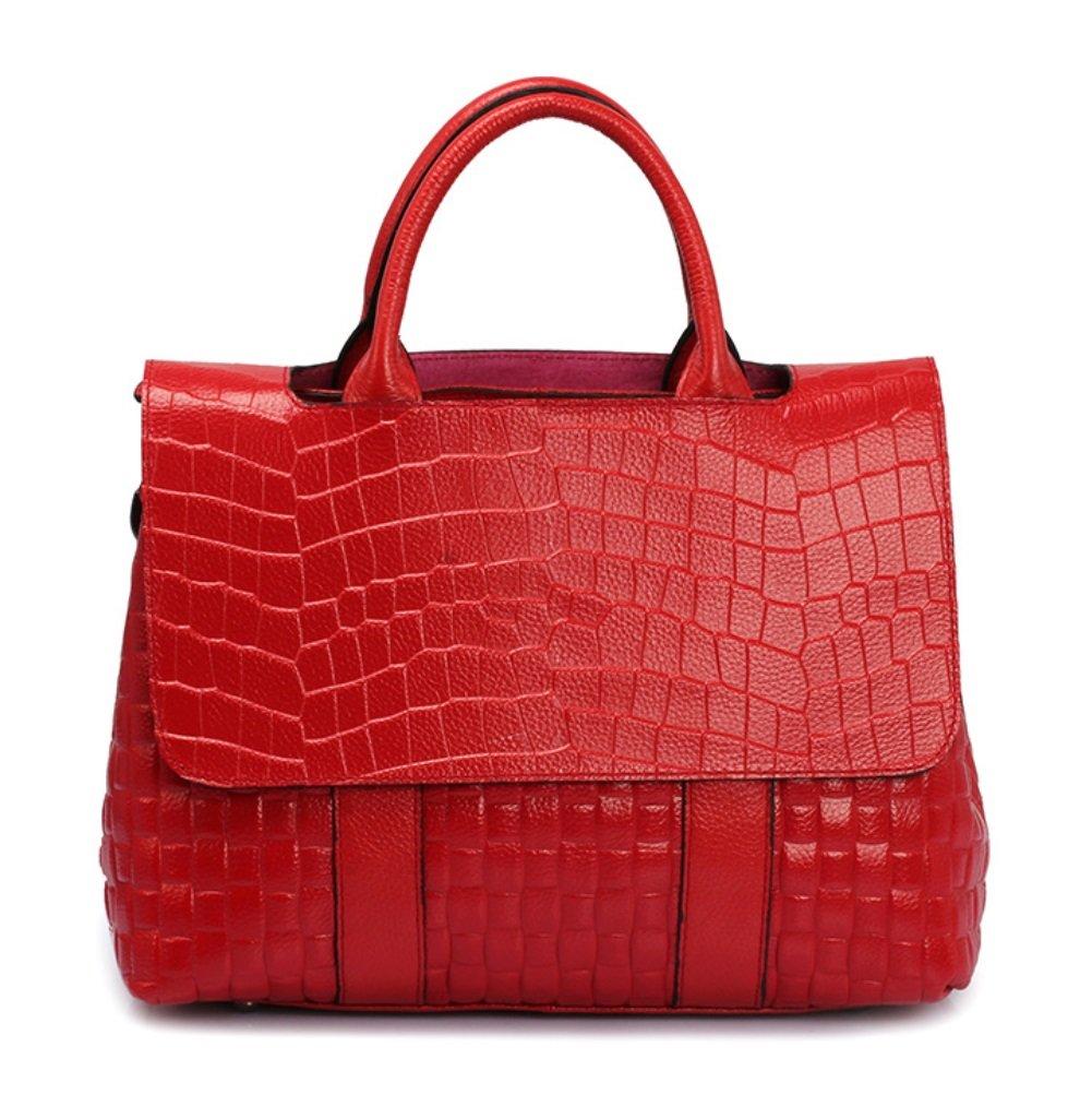 SHISHANG Frauen Tasche Neue Krokodilmuster Leder Mode Handtasche Leder Handtasche Temperament Handtasche ZYXCC
