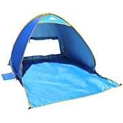 OutdoorsmanLab Automatic Pop Up Beach Tent, Lightweight For Family with UV 50+ Protection, Easy Carrying Bag, Wind Resistant Features