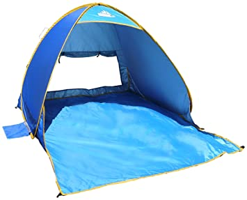 OutdoorsmanLab Automatic Pop Up Beach Tent Lightweight For Family with UV 50+ Protection  sc 1 st  Amazon.com : beach tents pop up - memphite.com