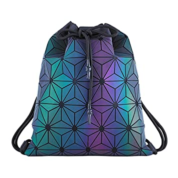 Bolsa de gimnasio con cordón geométrico impermeable deportes mochila para hombres mujeres: Amazon.es: Deportes y aire libre