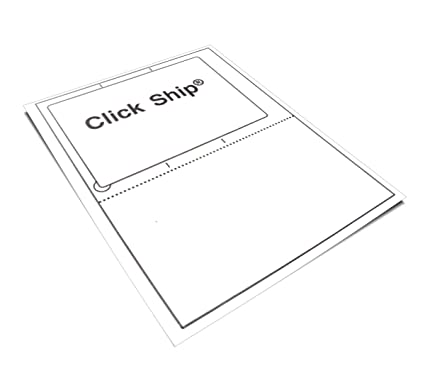 amazon com 100 click ship labels with tear off receipt use these