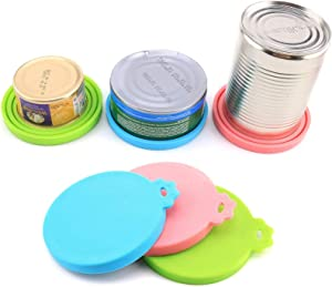 MITAKU 3 in 1 Reusable Pet Food Can Cover Silicone Dogs Cats Storage Tin Cap Lid Seal Cover Pet Supplies Lid2+Spoon1