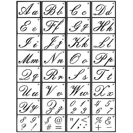 TEEPAO Plantillas Reutilizables diseño de Alfabeto, para ...