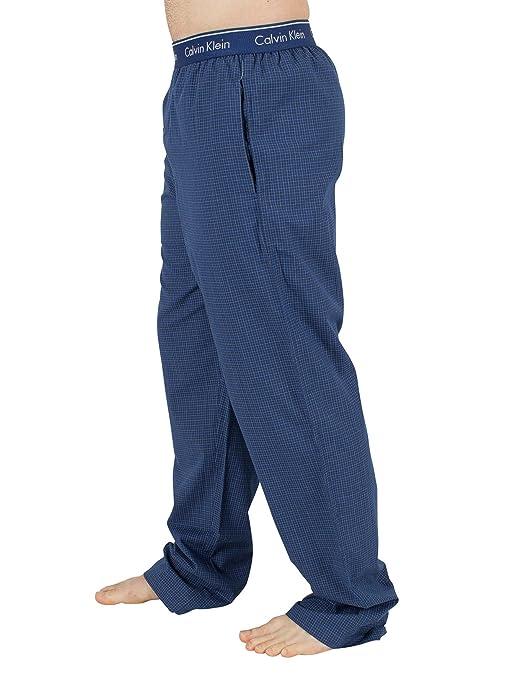 Calvin Klein Hombre A cuadros Logotipo de la pretina de pijama Bottoms, Azul, X-Large: Amazon.es: Ropa y accesorios