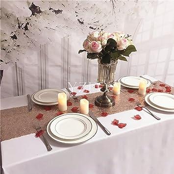 Yzeo Pailletten Tischlaufer 35 Cm X 275 Cm Fur Hochzeiten Partys