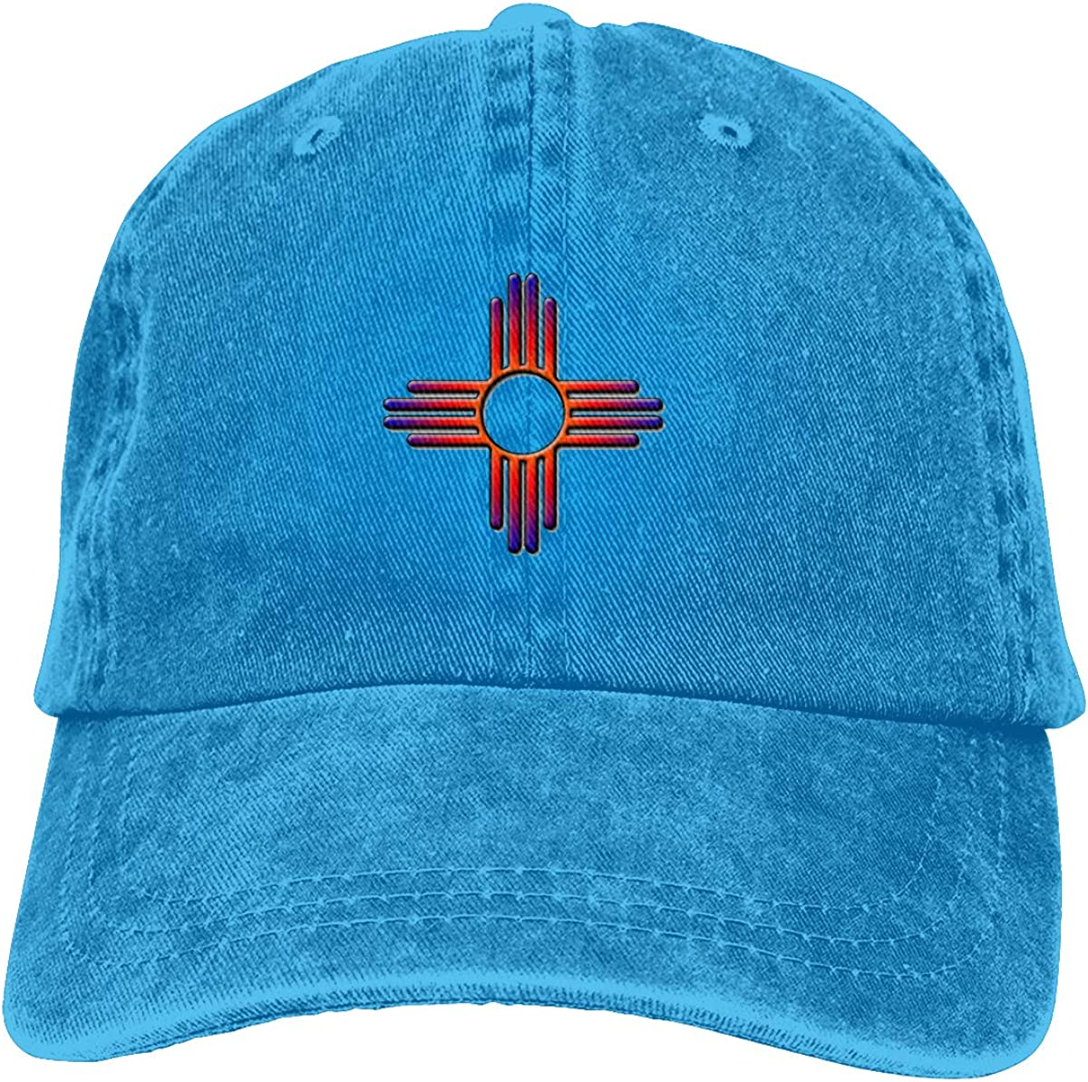 Flag of New Mexico Sign Cool Unisex Washed Cap Adjustable Dads Denim Stetson Hat