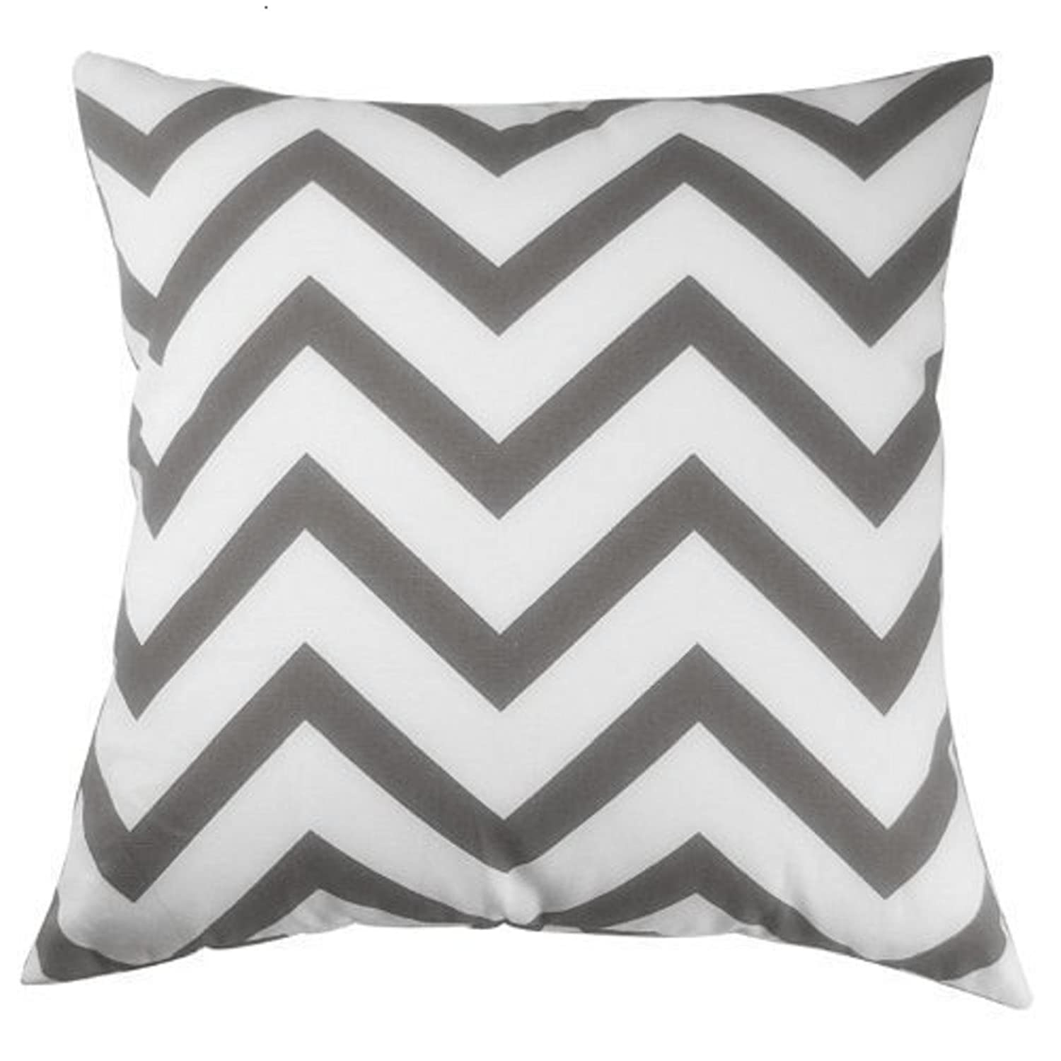 Gray Chevron Design Throw Pill...