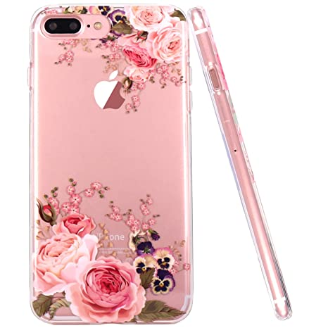 coque iphone 7 plus rose fleur
