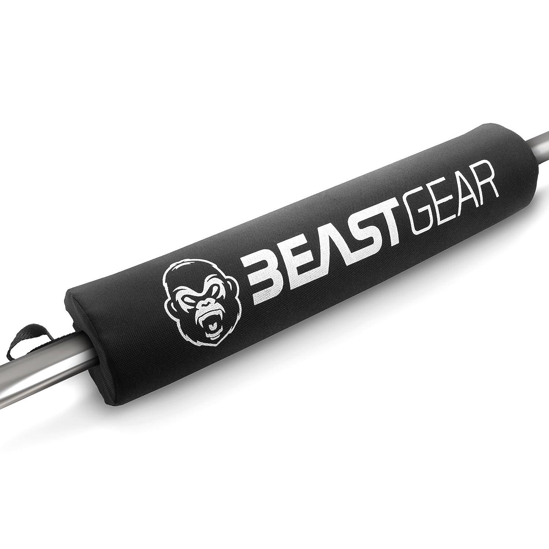 Almohadilla para Barra de Beast Gear – Para Levantamiento de Peso con Velcro. Protección de Hombros, Cuello y Espalda en Sentadillas y Hip Thrust. BeastGear4
