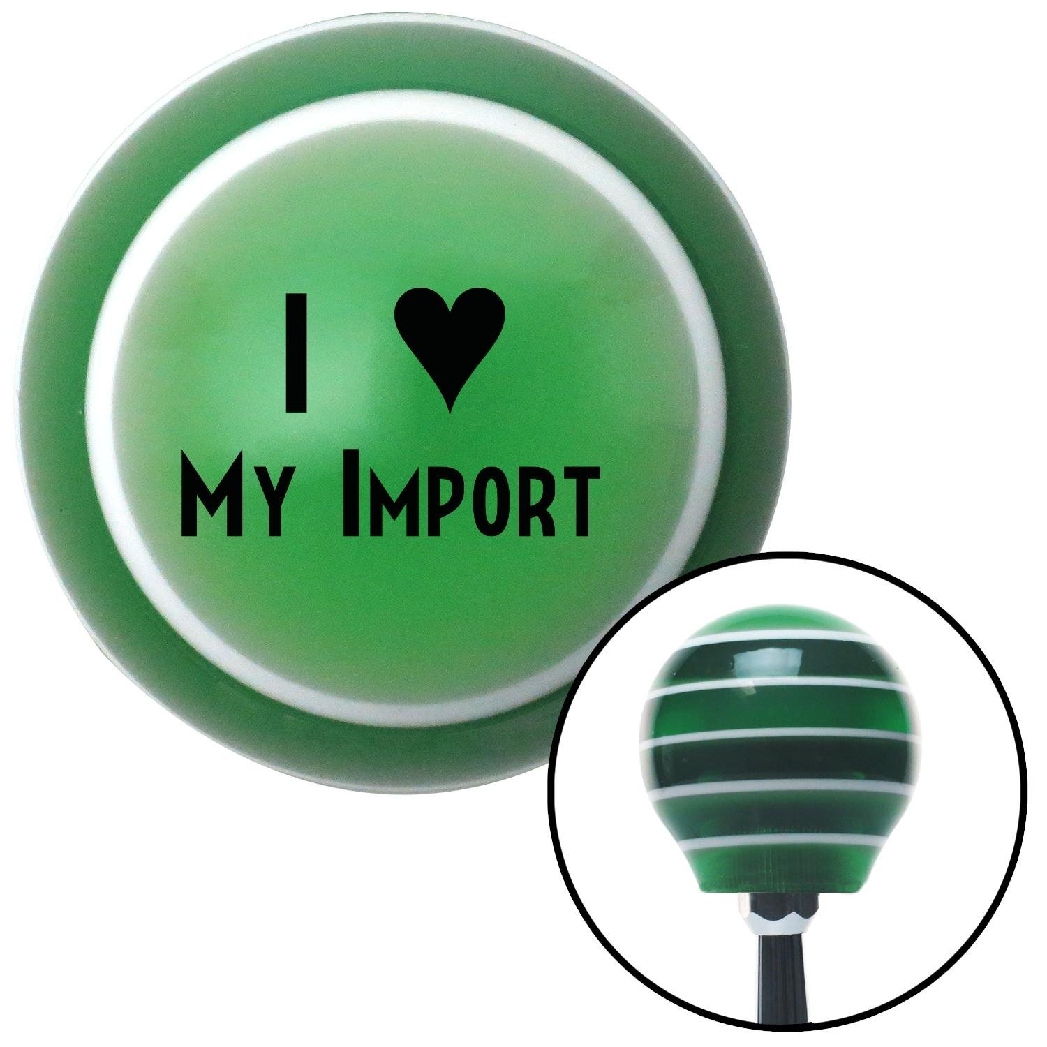 American Shifter 123702 Green Stripe Shift Knob with M16 x 1.5 Insert Black I 3 My Import