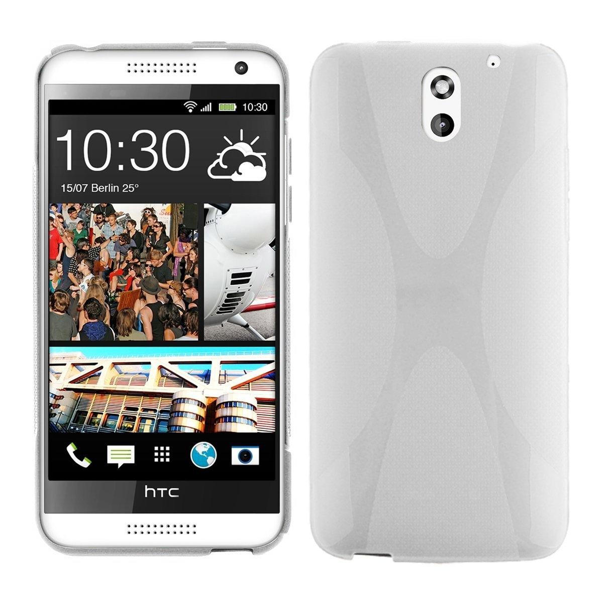 Cadorabo HTC Desire 610 Funda de Silicona TPU DISEÑO X en Blanco MAGNESIO – Cubierta Protectora Super Delgada e Flexible con Antichoque – Gel Case ...